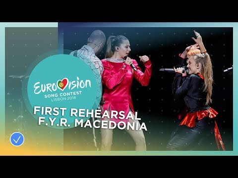 Eye Cue - Lost And Found - First Rehearsal - F.Y.R. Macedonia - Eurovision 2018