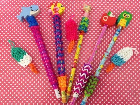Tutorial: Pegador de lápis super fácil Rainbow Loom com Tear