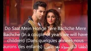 Jaaneman Aah- Song Lyrics (Traduction en Français+English subtitels+مترجمة للعربية) HD