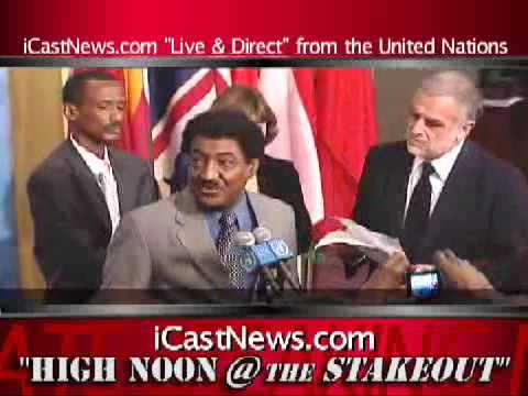Sudanese Ambassador to the United Nations, Abdalmahmood Abdalhaleem Mohamad HIGH-NOON UN STAKEOUT