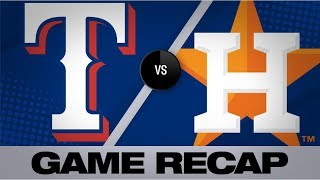 Cole gets 300th K in Astros' 100th win | Rangers-Astros Game Highlights 9/18/19