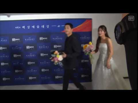 160603 송중기 송혜교 송송커플 Song Joong Ki Song Hye Kyo Song Song Couple Baeksang Art Awards Backstage
