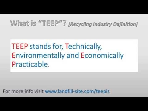 What is TEEP - UK Recycling Industry