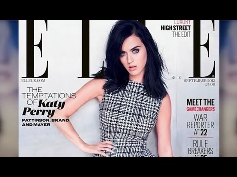 Katy Perry in UK ELLE - Talks Rob Pattinson!