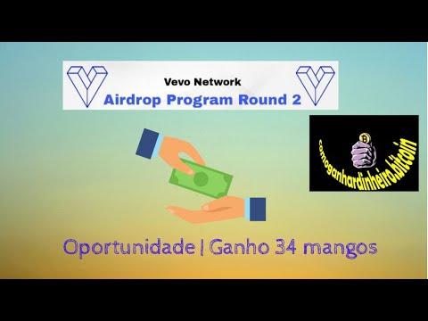VEVO NETWORK OPORTUNIDADE AIRDROP [34 MANGOS APROVEITE]