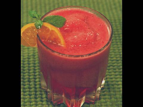 Strawberry And Orange Granita (Mocktail) - YouTube