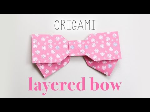 Origami Layered Bow Instructions 🎀 DIY 🎀
