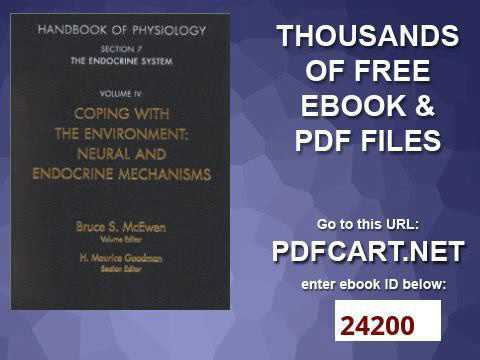 Handbook of Physiology, Section 7 The Endocrine System Vol  IV Coping with the Environment Neural &a