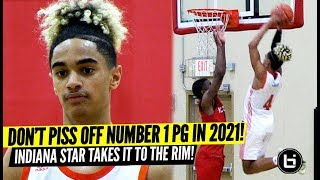 DON'T PISS OFF THE TOP RANKED POINT GUARD! Khristian Lander Adidas Gauntlet Highlights!