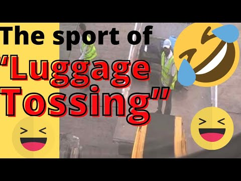 "The Sport of ""Luggage Tossing"" at Jinnah International Airport in Karachi, Pakistan"