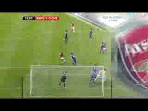 Theo Walcott's 1st Goal for Arsenal