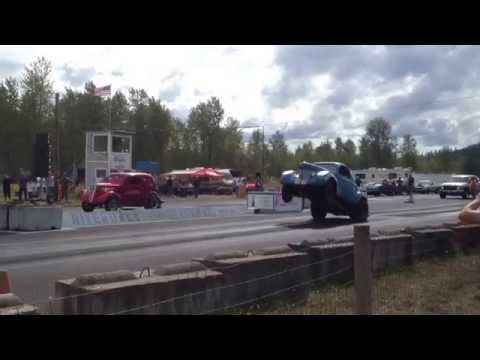 Willys Coupe vs. Anglia Billetproof Hot Rod Eruption Drags Toutle, Wa