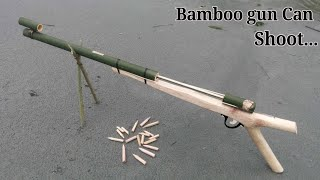 Home Make GUN | How to make a gun using Bamboo and wooden