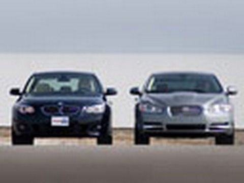 Can Jag Beat BMW?  Jaguar XF vs BMW 550i @ the Track