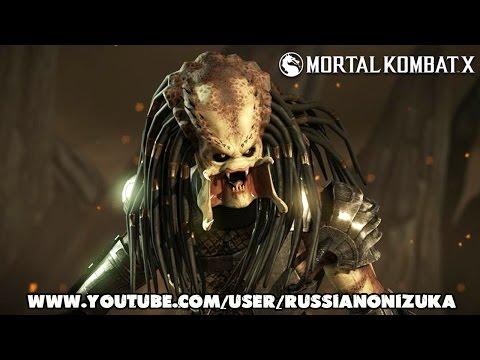 Mortal Kombat X - PREDATOR - Подробный Обзор DLC (Все бруталити, фаталити и костюмы)