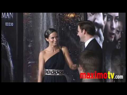 EMILY BLUNT and JOHN KRASINSKI at The Wolfman Premiere Arrivals February 9, 2010