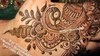 Mehndi Henna Designs Peacock : Nidhi s mehndiart viyoutube