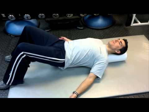 Pec Stretch on Roller to Open up Tight Chest and Shoulders