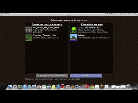 Como Poner Paquete de Texturas en Minecraft para Win & Mac (Todas las Versiones)