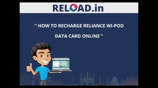 Reliance Wi Pod Data Card Recharge with Reload.in