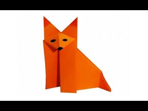 Оригами лиса схема - Оригами
