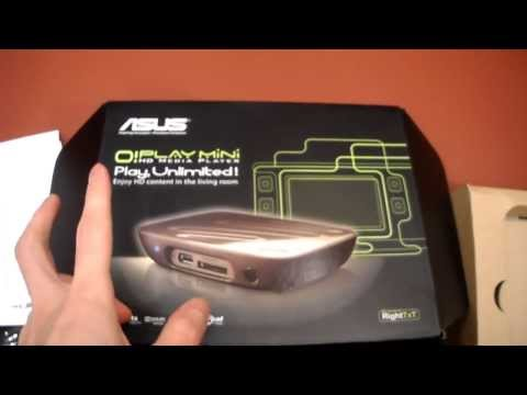 Unboxing Asus O!Play Oplay O Play Mini HD Media Player HDMI with remote Xvid Divx 7.1 dolby digital