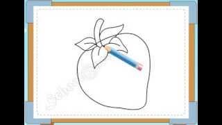 BÉ HỌA SĨ - Thực hành tập vẽ 122: Vẽ quả dâu tây