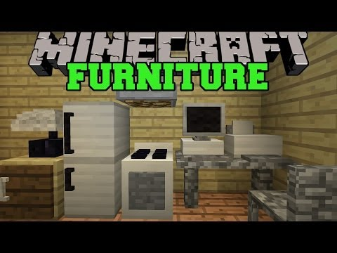 Minecraft: FURNITURE MOD COMPUTER TV FRIDGE OVEN COUCH MORE Mod Showcase