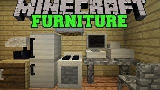 Minecraft: FURNITURE MOD (COMPUTER, TV, FRIDGE, OVEN, COUCH, & MORE!) Mod Showcase