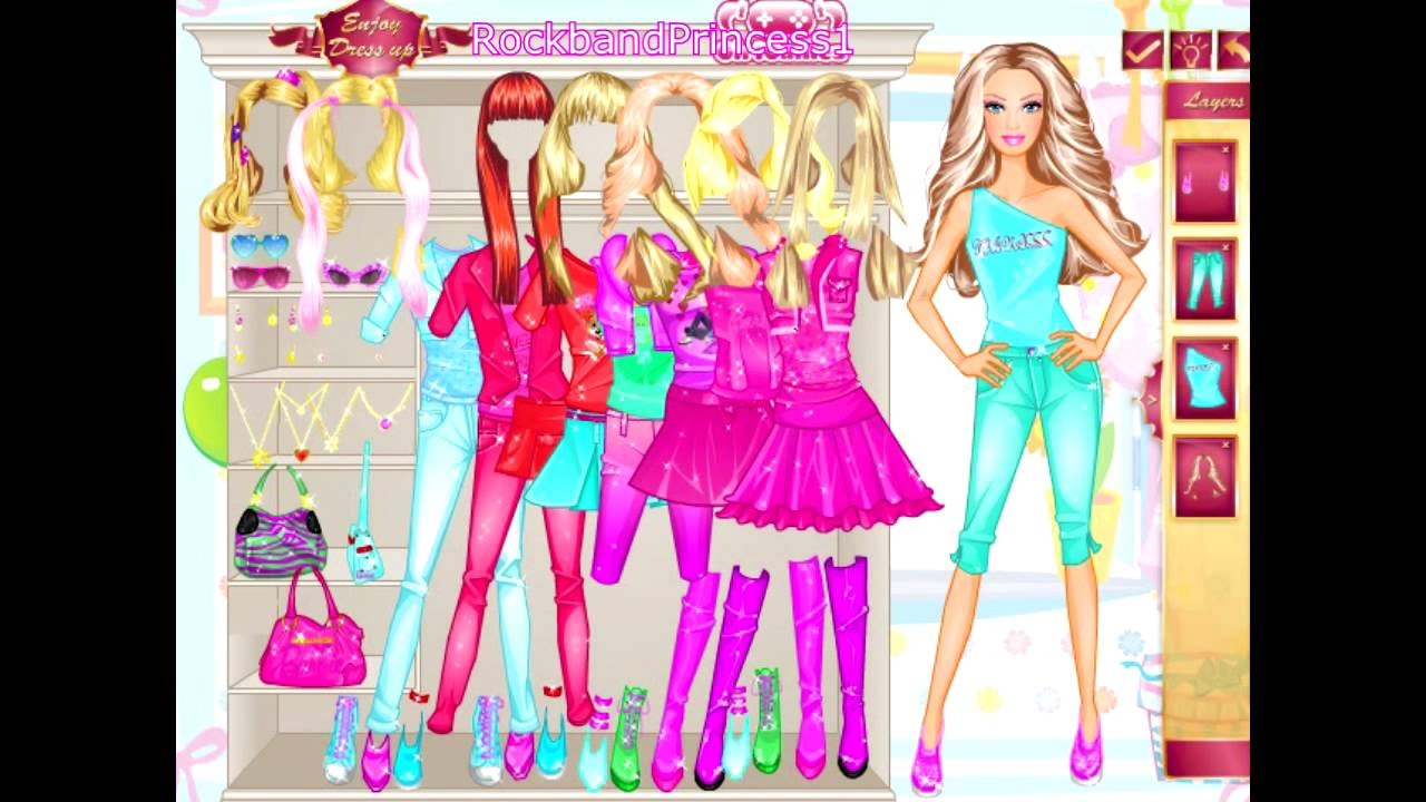 barbie dating dress up games