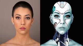 Realistic Cyborg girl photoshop tutorial cc