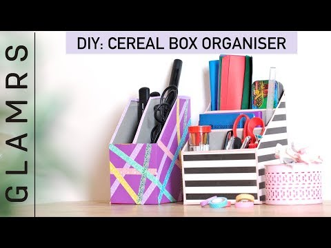 DIY Cereal Box Organizer - Quick & Easy Tutorial | Best Out Of Waste Craft Ideas