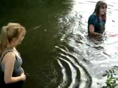 My friends... Swimming in the river Ouse.