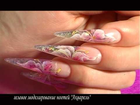 Аквариумный дизайн гелем ногтей видео уроки