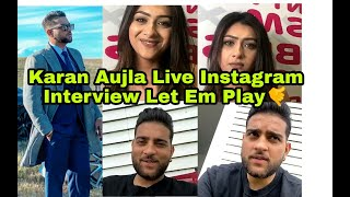 Punjabi artist Karan aujla live instagram interview Britasiatv With Let em Play Song