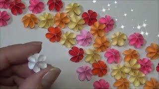 (ペーパーフラワー)簡単!かわいい!小さな花の作り方 【DIY】(Paper Flower) Easy!Tiny! Small flowers