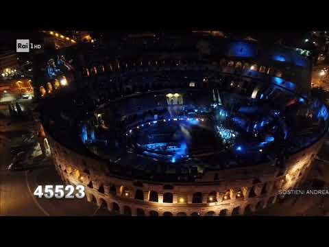 Colosseo Di Roma Andrea Bocelli Show 2cellos Suonano La Colonna