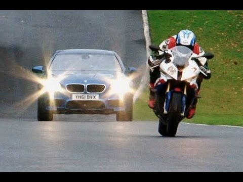 New BMW M5 vs BMW S1000RR superbike