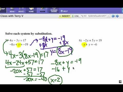 how to solve systems of equations substitution youtube. Black Bedroom Furniture Sets. Home Design Ideas
