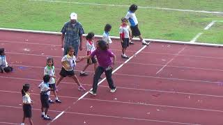 Vidhya 60m gold medal at Yuvabharathi International School Singapore - 9th Annual Sports Meet 2018