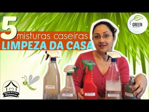 5 misturinhas caseiras para limpeza usando vinagre, bicarbonato, detergente, álcool..