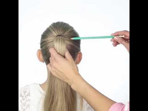 Как сделать прическу при помощи карандаша