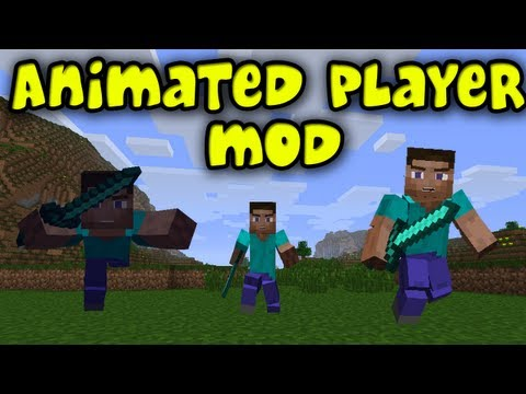 Minecraft Mods -  Animated Player Mod! Animations Of All Kinds! [1.5.1]