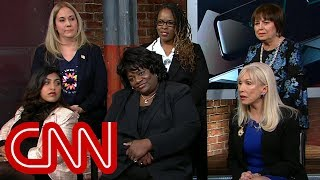 Female voters debate Trump harassment allegations