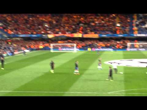 Didier Drogba being welcomed back at Stamford Bridge
