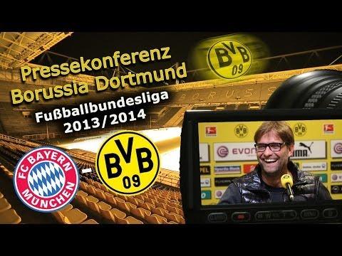 FC Bayern München - Borussia Dortmund : BVB Bundesliga Pressekonferenz Jürgen Klopp