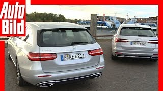 Audi A6 Avant vs Mercedes E-Klasse T-Modell (2018) Test / Details / Review