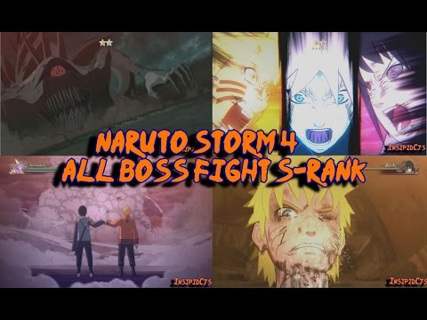 Naruto Storm 4: All Major Boss Battles S-Rank Supercut (Inc Boruto) English