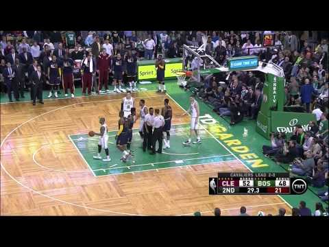Evan Turner tackles LeBron James flagrant foul: Cleveland Cavaliers at Boston Celtics, Game 3