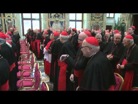Raw: Pope Francis Greets Cardinals